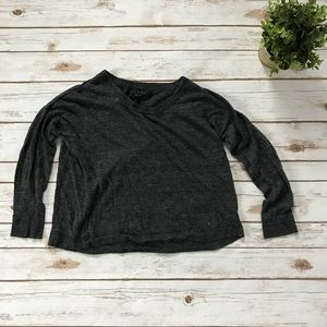 Rag & Bone Charcoal Gray Scoop Neck Sweater S A7